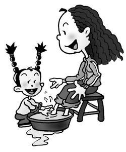 《给妈妈洗脚》后作文